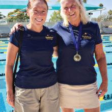 Lyn Moreno and Allison Lehman each swam five events at the Jamina Winston Meet.