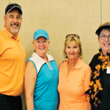 First place team (left to right): Sponsor Nova Home Loans Sean Wood, guests Debbie Ogle and Gail Fosmire and MPLN member Phyllis Cadden; photo courtesy of Holly Riviere