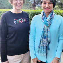 Tina Wrbanek (left) and Kathleen Dunbar