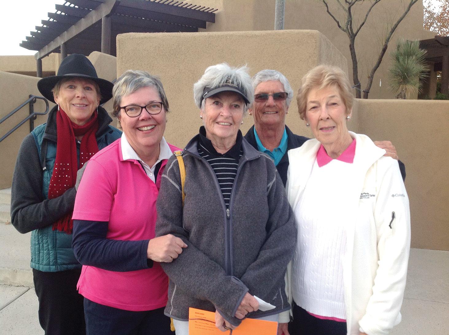 Left to right: Joyce Sutay, Carol Thompson, Susan Elliott, Becky Fisher, Carol Larson