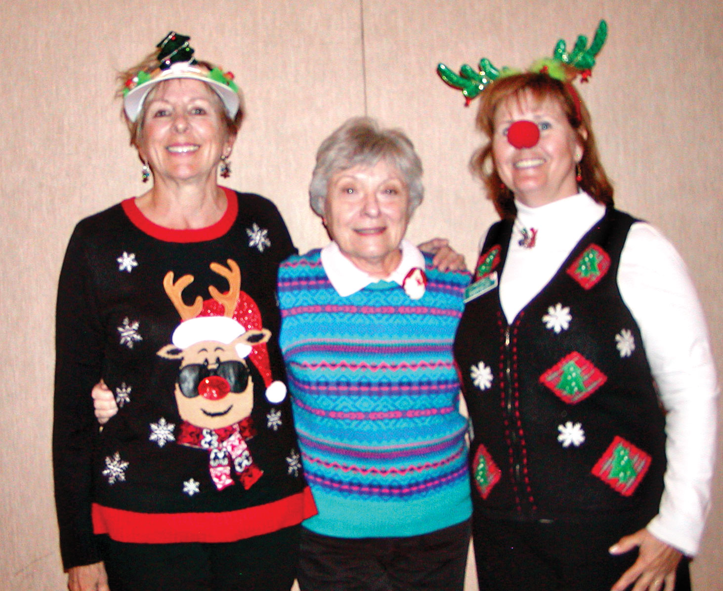 Left to right: Joyce Sutay, JoAnn Wilbour, Karen Richey; photo by Holly Riviere