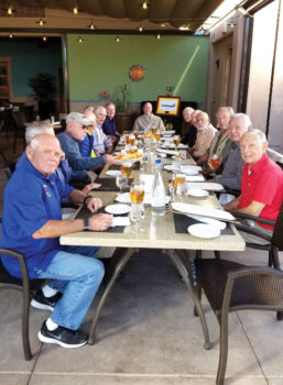 The Friday Pilots weekly meeting at Hacienda del Sol, Tucson