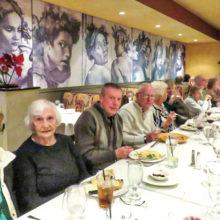 Singles dining at Michelangelo's; photo by Arlene Desjardines