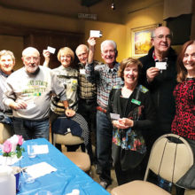 Seven teams vied for prize money at the annual Trivia Potluck meeting.