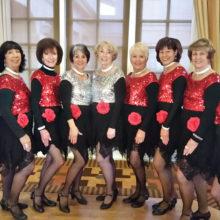 Dancers, left to right: Linda Schuttler, Caryl Mobley, Ann Kurtz, Kathleen Dunbar, Tina Wrbanek, Claudia Booth, Dianne Bank, Laurie Page and Vivian Herman