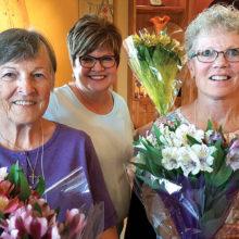 Tour hostesses: Doris Dieterle, Jan Francis and Arlynne Striplin