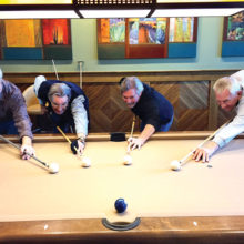 Left to right: Jim Mansmith 4th, Randy Smith 1st, Dominic Borland 2nd, Tom Kaliski 3rd