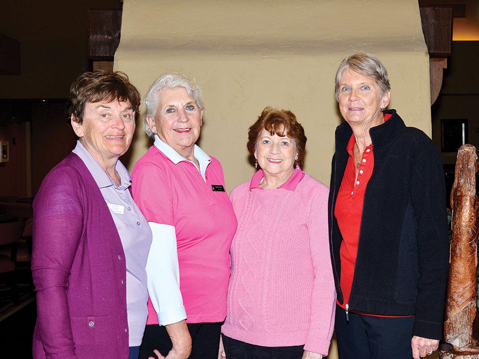 Winners SaddleBrooke Course, left to right: Hedy Gryszan, Barbara Brown, Nancy Claffey and Judie Knapp