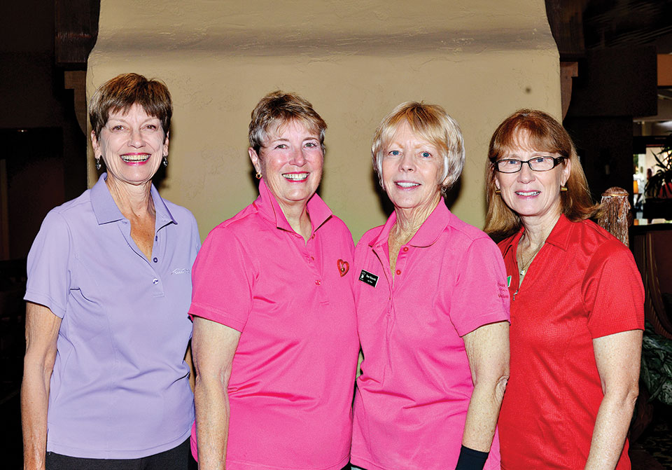 Winners Tucson Course, left to right: Christine Smith, Laura Benson, Diane Mazzarella and Janice Best
