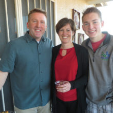 Pastor Tim Nybroten with his wife Chandra and son Joshua at the SaddleBrooke Meet 'n Greet