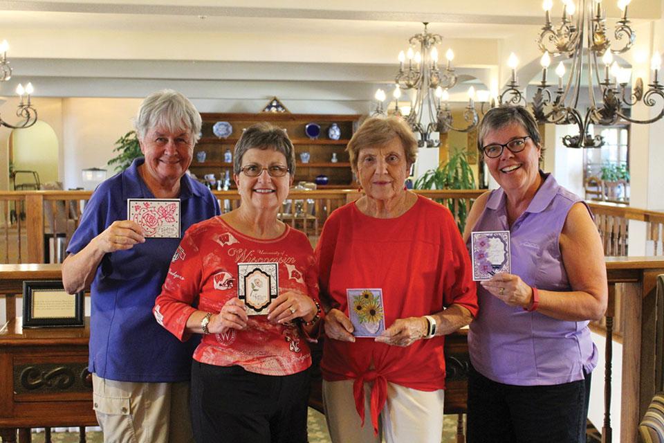 Left to right: Julie Egolf, Sharon Scanlan, Opal Larkin and Carol Thompson