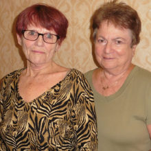 Stephanie Parks and Barb Dever, one of three partners Stephanie paired with to receive her Life Master level.