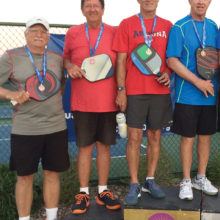 From the left: Bronze medalists Bill and Lee, Gold medalists Greg and Ed