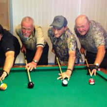 "Left to right: Tom ""Half Jacket"" Barrett, Richard ""Loose Rack"" Galant, Gary ""Bushwhacker"" Powers, Fred ""The Baker"" Dianda"
