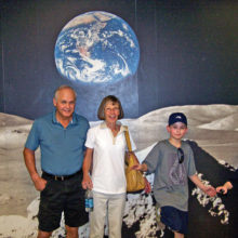 Bob, Barbara and their grandsons, Justin and Nate, at the IMA Air and Space Museum