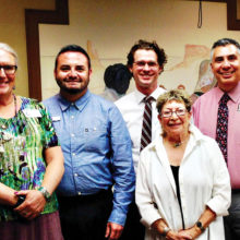 Left to right: Abby Jensen, Southern Arizona Gender Alliance; David Martinez, HRC; Steve Kilart, ACLU, Alice Frier, GLAAS; Carlos Galindo-Elvira, ADL