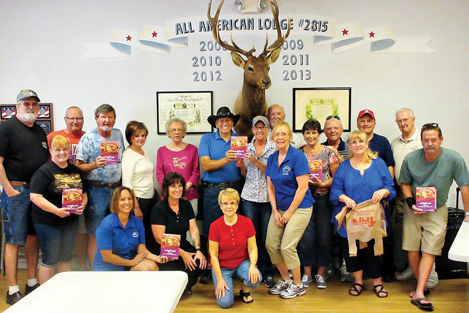 Elks members assembled 350 breakfast food bags for IMPACT.