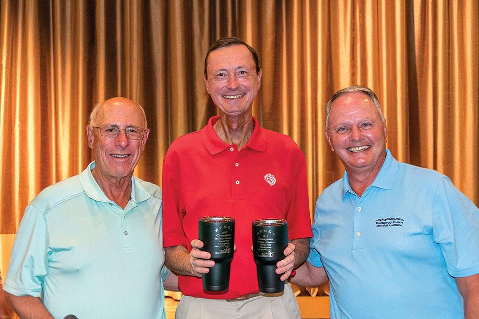 Left to right: David Cohen (Special Event Director), Tim Ward, President Bob Eder; not shown, Tony Van Natter