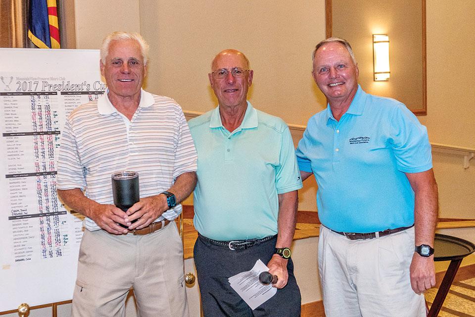 Left to right: Dean Hampton, Special Events Director David Cohen, President Bob Eder
