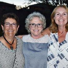 Sandi Chester, Maggie Falconer, Debra Finn; missing Brenda Brown – Hawks