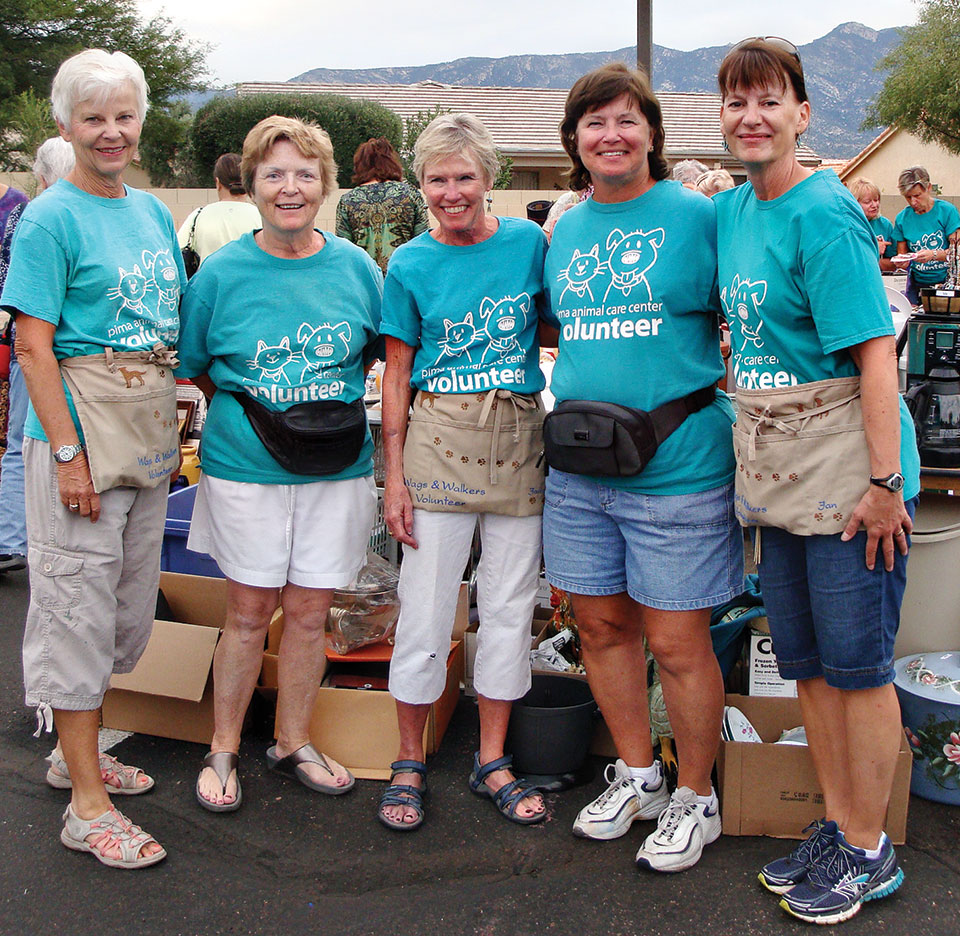 Pet Rescue Network volunteers begin to collect donations for the fall sale.