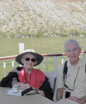 Virginia Hegseth and David Dodd; photo by Arlene DesJardins