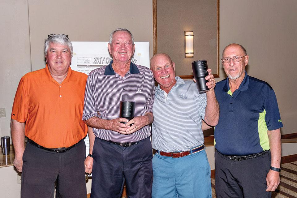 Left to right: Joe Oczak, Roland Dell, Mike Ewing, David Cohen