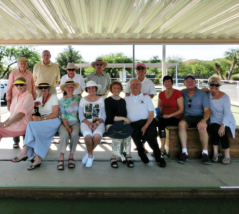 Despite the heat 22 members of the British Club braved the weather to play Bocce Ball.