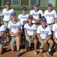 John's spring season teammates. For those who wonder if ladies play softball, please note there are four ladies on this team; add one more that was missing on photo day; photo by Pat Tiefenbach.