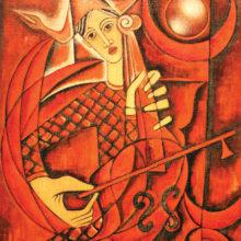 Red Musician by Jose Maria de Servin