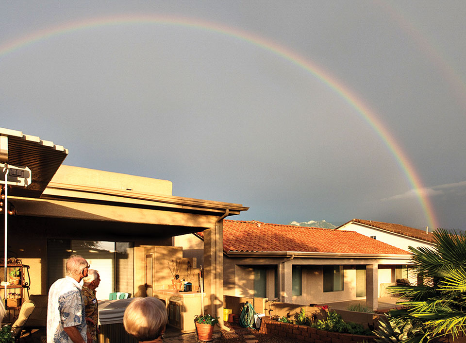 A rainbow after the storm; photo by Nelson Rodrigues