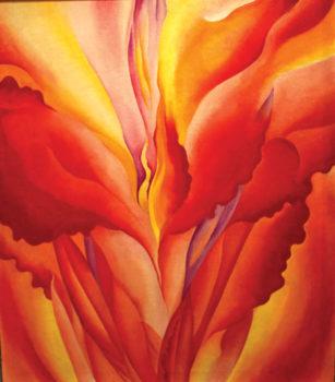Red Canna, by Georgia O'Keeffe