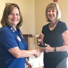 President Debbie Foster thanks Stephanie Thomas for her presentation.