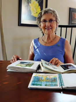 Catherine Eighmy shows a few of her beautifully illustrated travel journals.