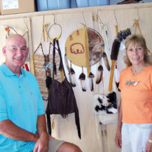 Bob and Vicki with a few of their creations