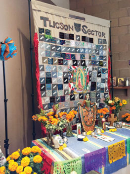Migrant Quilt and Ofrenda at Episcopal Church of the Apostles