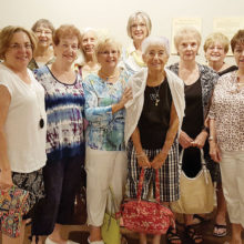 The ladies explored the latest exhibit at the Tucson Desert Art Museum and learned about