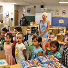 SaddleBrooke Rotary Club delivers books to students three times per year.
