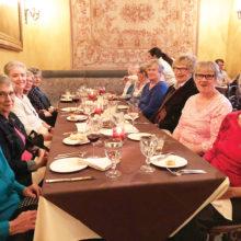 Villas II ladies enjoy dinner at Cucina Rustica in Sedona