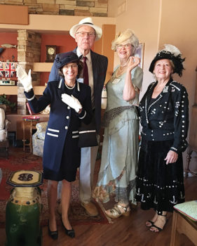Ethel was the Pearly Queen, Dawn Godfrey was the Queen of England, John Bray was Prince Phillip, Sheila Bray was Lady Grantham (Downton Abbey) and Angela Martin was an English Bobby.