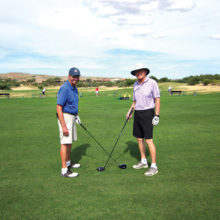 Jerry Morris and Randy Miles prepare for the 9ers October and November tournaments.