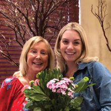 Diane Ewing, P.E.O. Chapter EP Star Scholarship Committee Chair and Stephanie Clark, Star Scholarship recipient