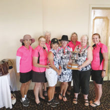 Catalina Cup Team, back row: Phyllis Sarrels, Kerry Crowell; Front row: Becky Hubbard, Maire Ryan, Takeyo Eakin, Kathleen Houser, Eila Sallaberry and Deb Finn