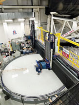Polishing robot in the Richard F. Caris Mirror Lab.