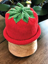 Strawberry hat.