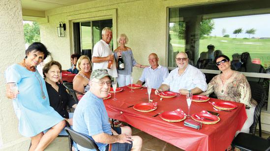 Left to right: Mike Aramanda, Vickie Bone, Millie Aramanda, Staci Brown, Alfred VanGool, Beverlee Deardorff, John Brown, Doug Akins and Beverly Akins.