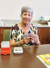 Sue Hagerty is a regular player at the MountainView Bridge Club. Photo by Sue Bush.
