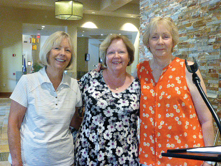 Left to right: Diane Mazzarella, vice president; Barbara Bloch, president; Deb Bunker, current president. Not pictured: Caryl Dowell, secretary; and Jackie Webster, treasurer.