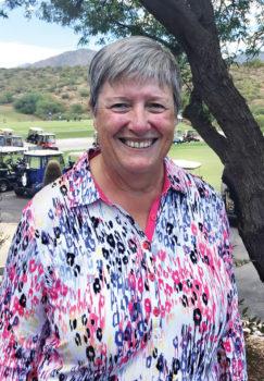 Our September gross score winner Sandra Murray.