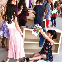 In 2019, SaddleBrooke Ranch volunteers built a bookcase for each first-grade student at Ray Elementary School. SBCO annually funds the materials for the bookcases and purchases two new books for each student in first through third grade.